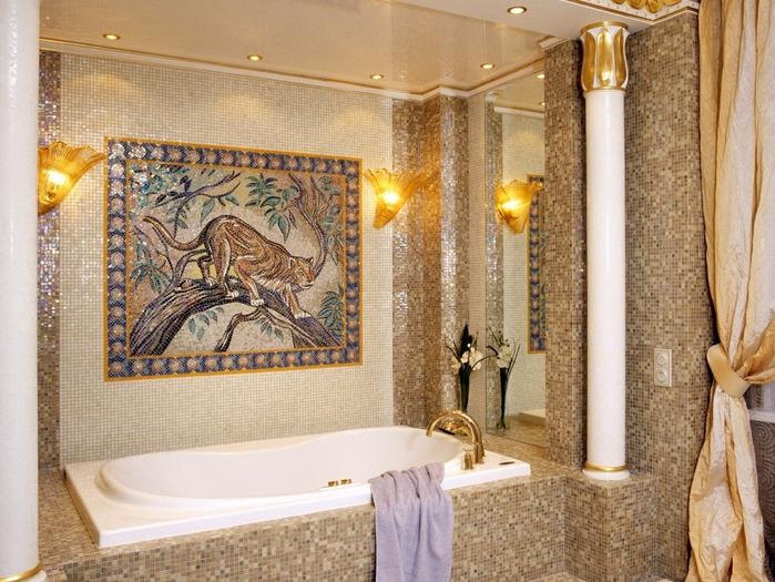 декоративная мозаика в интерьере 5 (700x525, 463Kb)