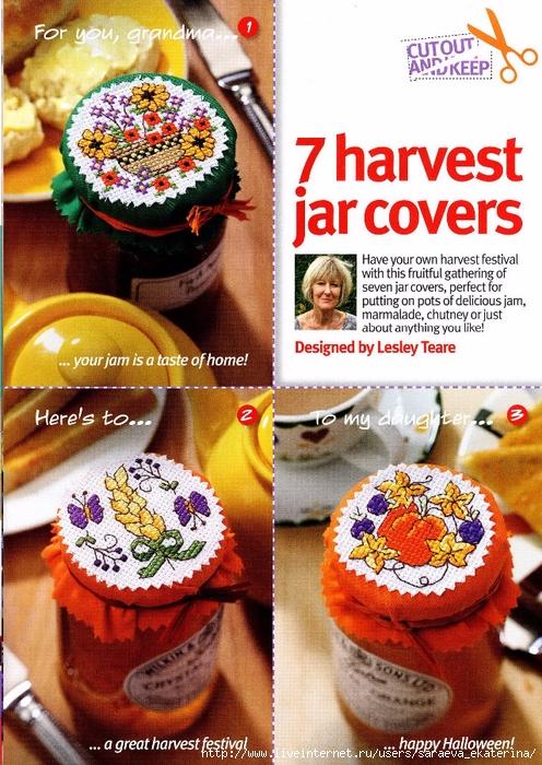 53 - 7 Harvest Jar Covers (496x700, 368Kb)