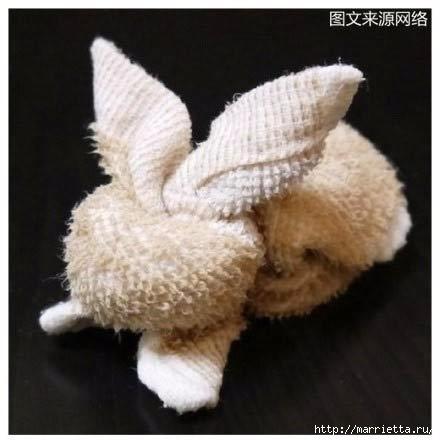 Пасхальный кролик из полотенца. Мастер-класс (10) (440x440, 78Kb)