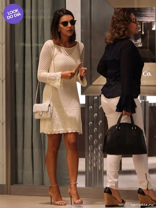 Белое платье спицами. Ищу схему (4) (524x700, 274Kb)