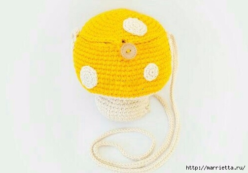 Детская сумочка «Мухомор» крючком (8) (503x352, 70Kb)