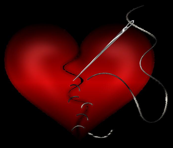 неискренность и недоверие штопка сердца (700x598, 180Kb)