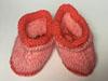 Пинетки розовые из мохера для малышей ручной работы
