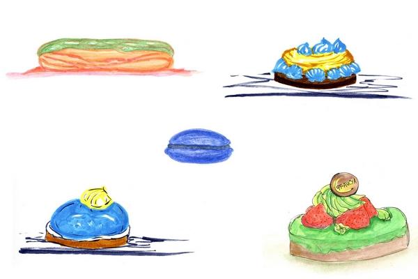 коллаж пирожных (600x400, 91Kb)