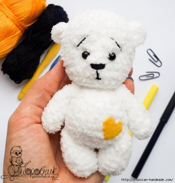 Вязание крючком плюшевого медвежонка. Описание (1) (567x594, 157Kb)