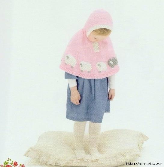 Вязание спицами для девочек. Модели с овечками и кошечкой (1) (546x555, 144Kb)