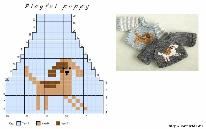 Вязание спицами свитеров для кукол. Схемы (5) (700x440, 141Kb)