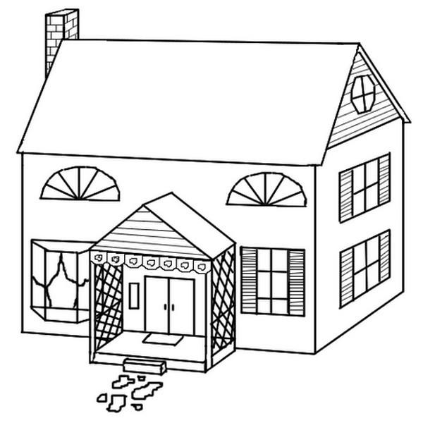 Раскраска садик здание