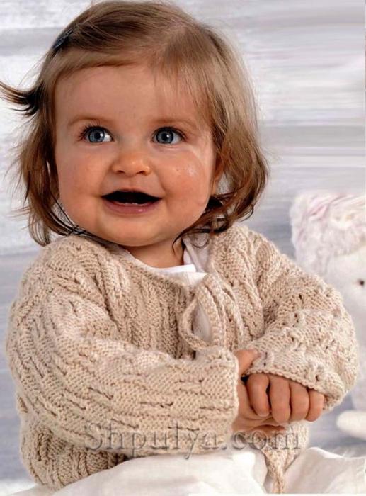 Модели для вязания спицами детям 44