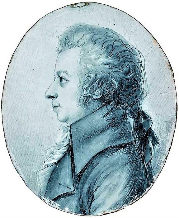 Dora Stock (German, 1759-1832) Mozart bei seinem Besuch in der Stadt Dresden im April 1789. 1789 г. Stiftung Mozarteum, Salzburg (575x700, 140Kb)