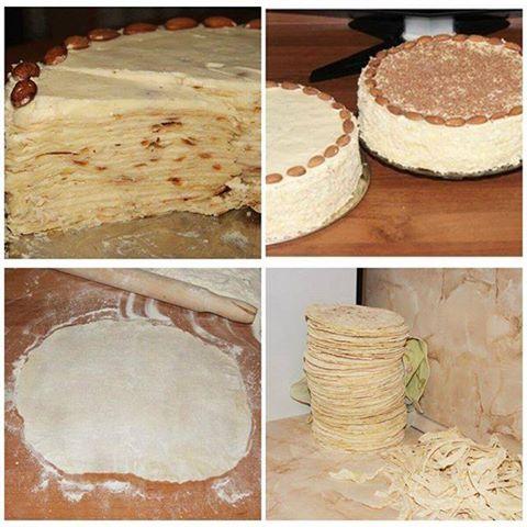 Приготовление торта наполеон пошагово