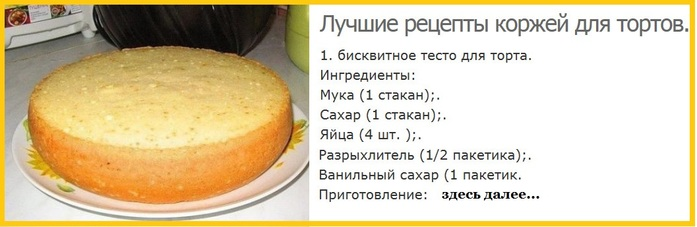 Легкий рецепт бисквита