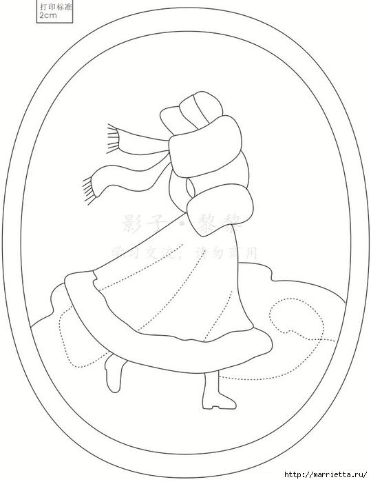 Лоскутный квилт. Панно «Дамы» (3) (539x700, 124Kb)
