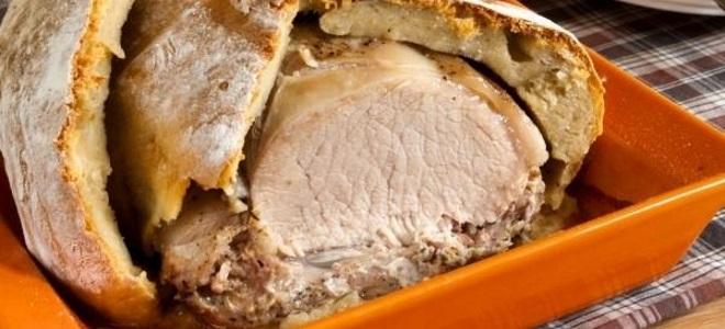 Как запечь свинину в духовке в слоеном тесте рецепт с в духовке