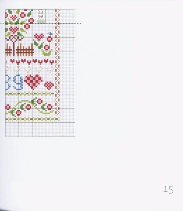 Вышивка крестиком со схемами