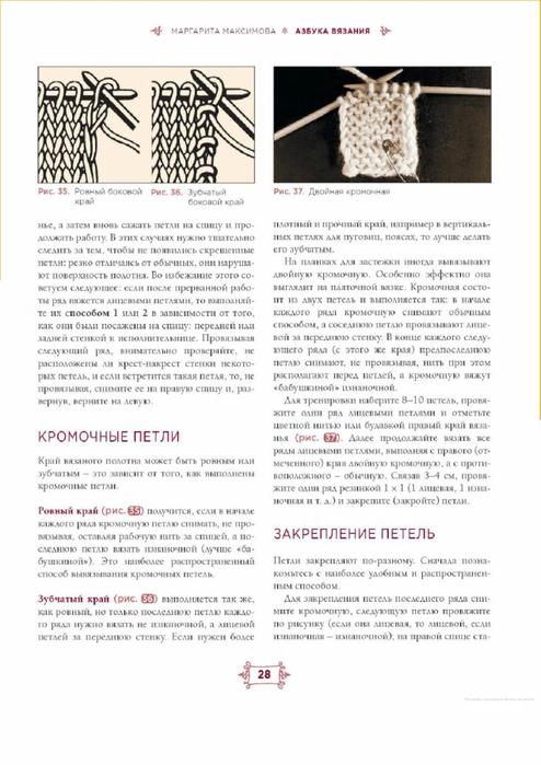 Скачать м. максимова азбука вязания