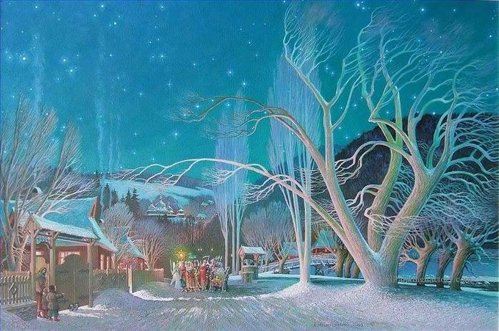 С Мельниченко. Рождество (700x463, 418Kb)