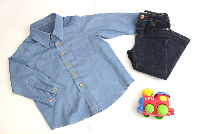 diy patrones gratis camisa denim jeans bebes y ninos 03 (700x466, 82Kb)