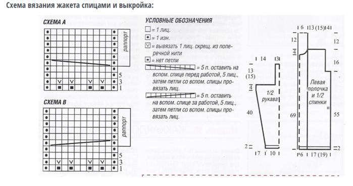 Схемы вязания спицами колосок 52