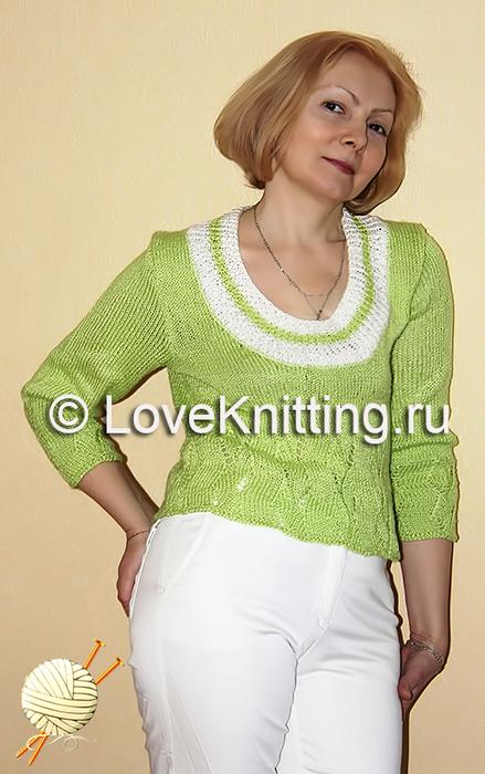 02 Пуловер с рукавами 3_4 МТ2 ок (439x700, 341Kb)