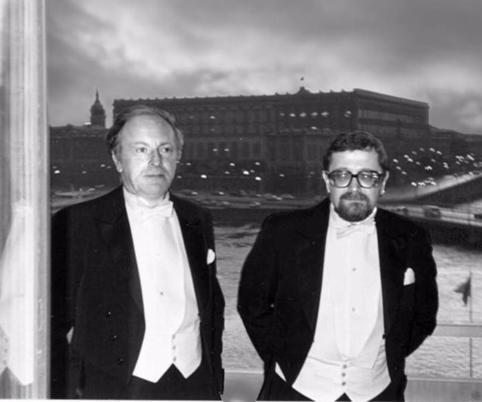 2 Бродский и Лев Лосев в Стокгольме. 1987 г. Из архива автора. (700x584, 157Kb)