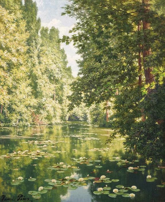 Водяные лилии на Марне в Кретее (Water lilies on the Marne at Creteil) (574x700, 583Kb)