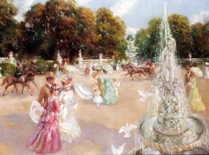 Английский художник Фредерик Джон Ллойд Стревенс 7 (700x519, 378Kb)