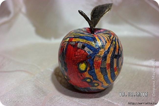 Яблочки из папье-маше. Мастер-класс (7) (650x433, 139Kb)