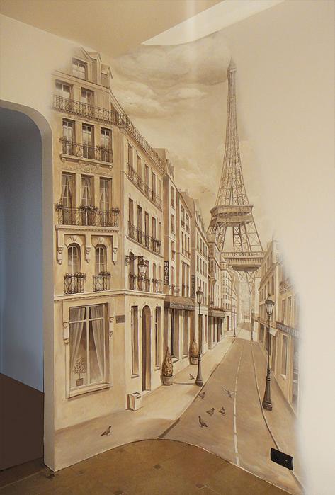 роспись стен в интерьере фото 2 (473x700, 436Kb)