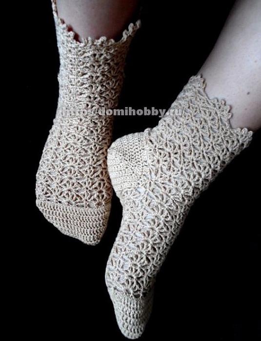 связать носки крючком