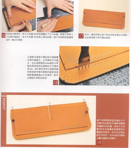 Бумажник из кожи выкройки