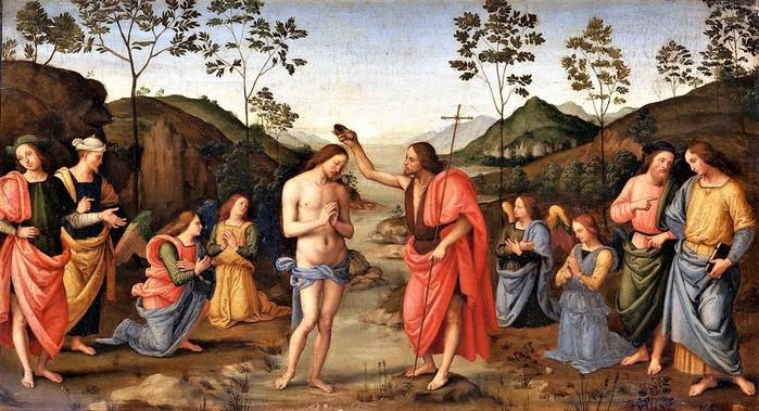 Крещение Христово (The Baptism of Christ)  1630-1650    32.5 х 59  х.,м._Лондон, Национальная галерея (700x379, 123Kb)