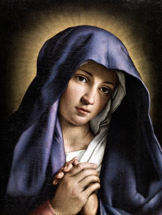 Дева Мария   (Portrait of the Young Virgin Mary)   32 x 24   х. на д.,м.   Частное собрание (525x700, 116Kb)
