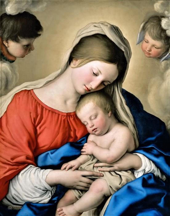 Спящий Младенец Иисус   ок.  1650   (The Sleep of the Infant Jesus)    77 х 61    Париж, Лувр (552x700, 99Kb)