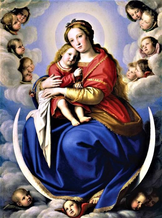 Мадонна с Младенцем и ангелами    1650   (The Madonna and Child with angels)   133.1 х 98    Ватикан, Музей (520x700, 122Kb)