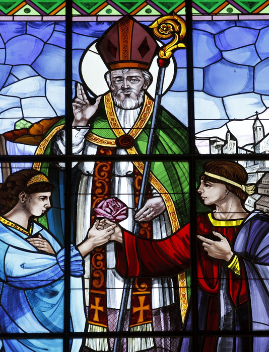 St. Valentine - Stained glass window at basilica in Terni, Italy (1) (534x700, 565Kb)