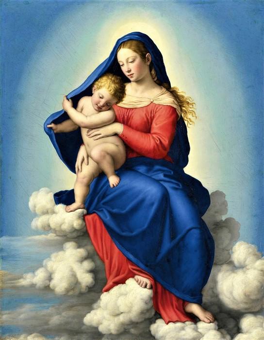 Мадонна с Младенцем в славе (Madonna And Child In Glory),    49 х 38,   х.,м.,   Частное собрание (544x700, 99Kb)