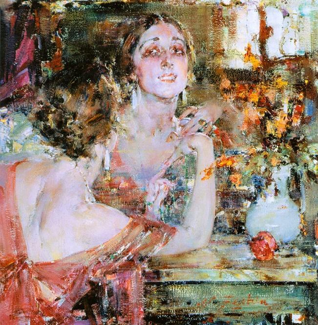 Портрет Веры Фокиной. 1926 (651x664, 325Kb)