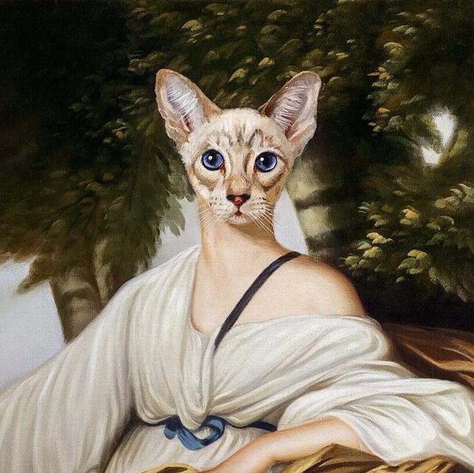 2. Софи Марсо из серии женщины-кошки, 2011 год (690x689, 530Kb)