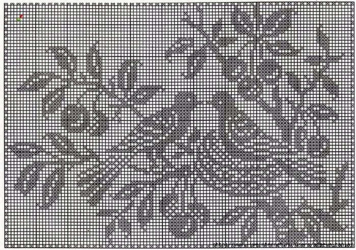 Филейное вязание крючком наволочки для подушек схемы 37