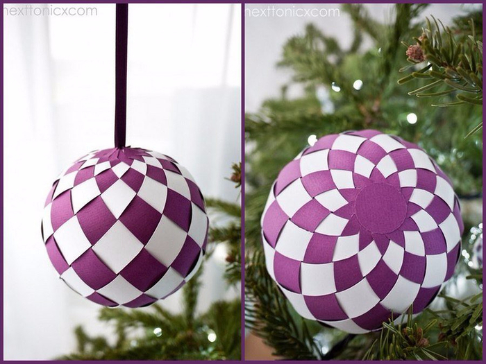 Как сделать шар в шаре из бумаги