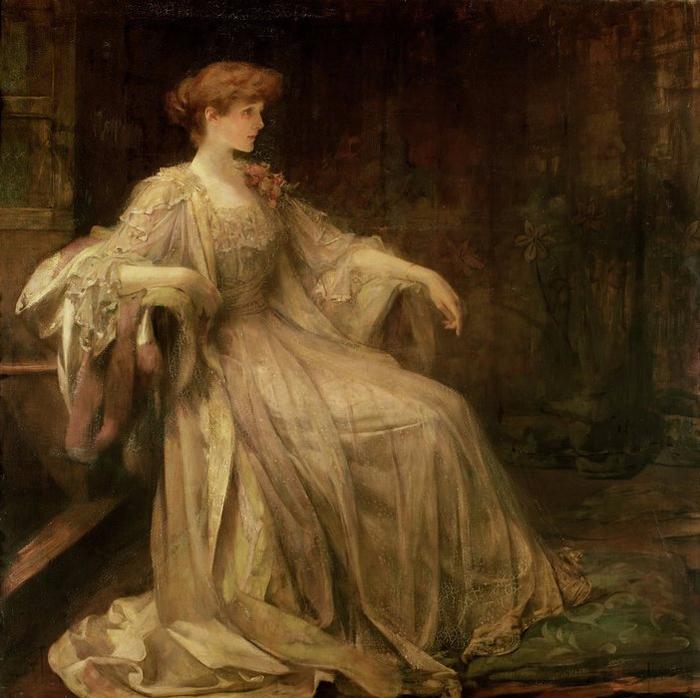 Portrait de Violet, la duchesse de Rutland (c. 1890) (700x698, 447Kb)