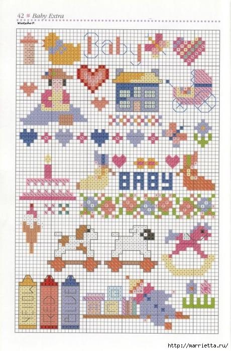 Детская вышивка крестом. Схемы (5) (460x700, 277Kb)