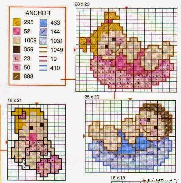Детская вышивка крестом. Схемы (9) (593x600, 278Kb)