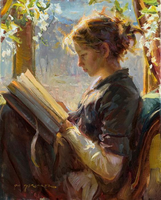 Daniel F. Gerhartz женщина и книга (565x700, 128Kb)