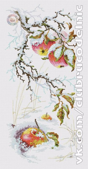 вышивка Зимний каприз (367x700, 319Kb)