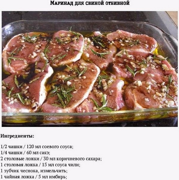 Рецепт маринад для свинины