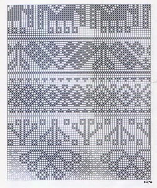 Узоры с двойными накидами спицами схемы