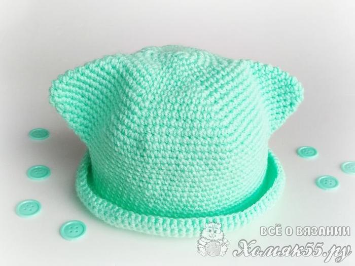 """从帽顶开始钩的""""猫帽"""" - maomao - 我随心动"""