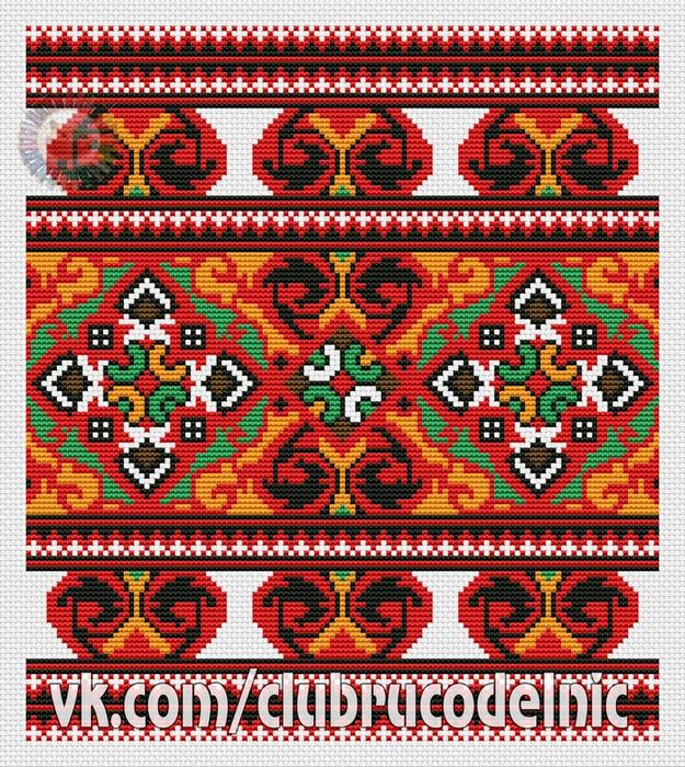 Украинские орнаменты 90 (625x700, 768Kb)